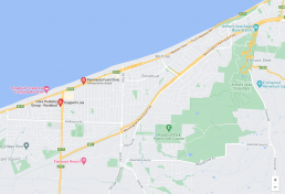 Map of our Rosebud Podiatry Clinic