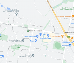 map of our Somerville Podiatry Clinic